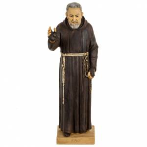 Statuen aus Harz und PVC: Statue Pio von Pietralcina aus Harz 50cm, Fontanini