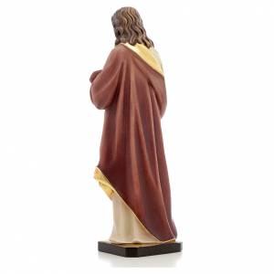 Statue Sacré coeur de Jésus peinte bois Val Gardena s3