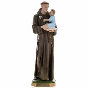 Statue Saint Antoine et enfant plâtre 60 cm s1