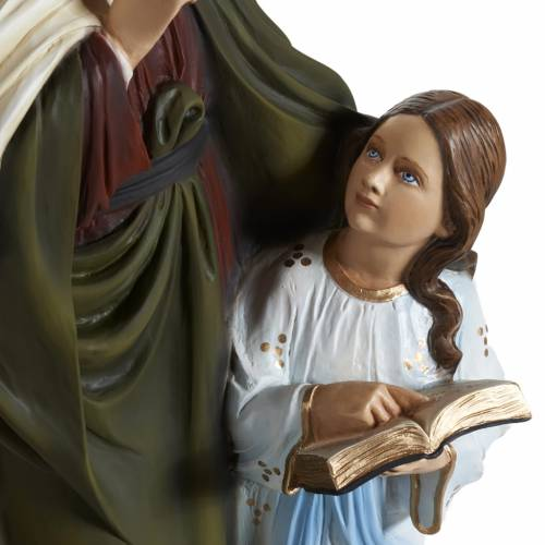 Statue Sainte Anne marbre 80cm peinte 2