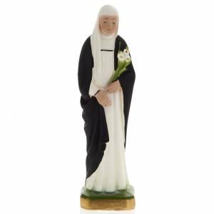 Statue Sainte Catherine plâtre 20 cm s1