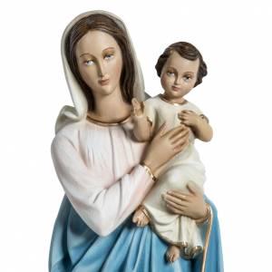 Statue Vierge à l'enfant en fibre de verre 60 cm s2