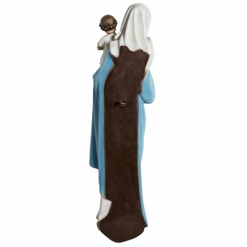 Statue Vierge à l'enfant en fibre de verre 60 cm s9