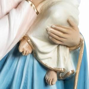 Statue Vierge à l'enfant en fibre de verre 60 cm s6