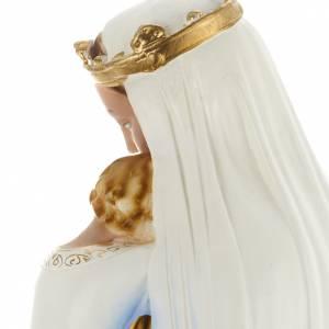 Statue Vierge à l'enfant plâtre perlé s6