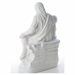 Statue Vierge de Pitié marbre blanc 53 cm s3