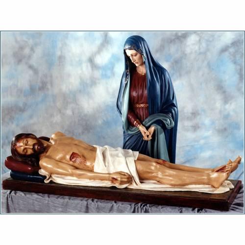 Statues Notre-Dame des Douleurs et Jésus fibre de verre Landi s1