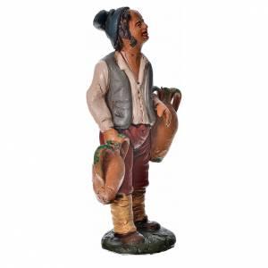 Uomo con anfore terracotta presepe 18 cm s2