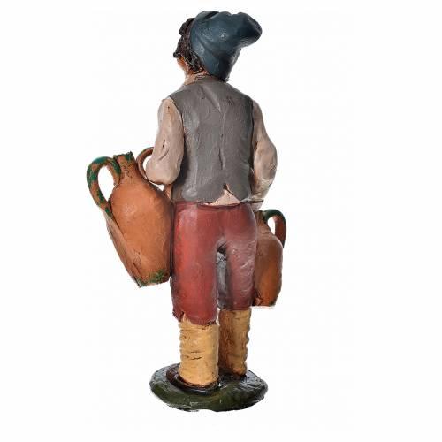 Uomo con anfore terracotta presepe 18 cm s4