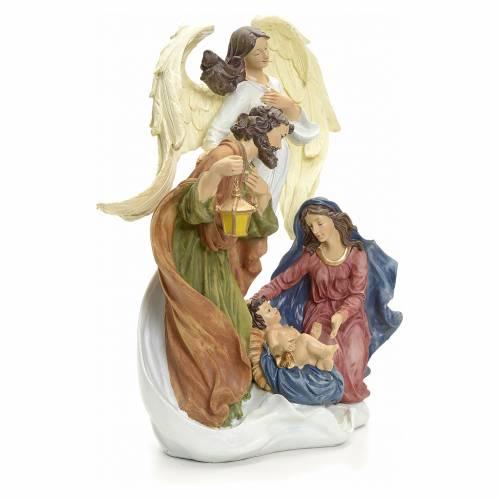 Natività con angelo 36 cm s2