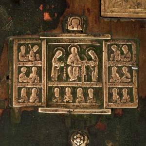 Stauroteca antica russa 11 bronzi da XVI a XVIII secolo s4