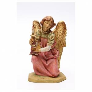 STOCK Ange à genoux 52 cm rose crèche Fontanini s1