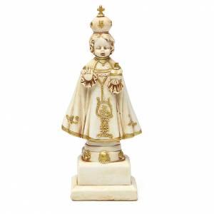 STOCK Enfant Jésus de Prague 15 cm plâtre ivoire s1