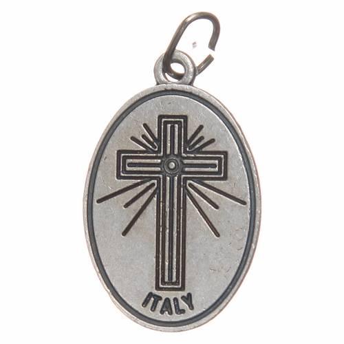 STOCK Médaille croix ovale métal oxydé 20 mm Crucifixion s2