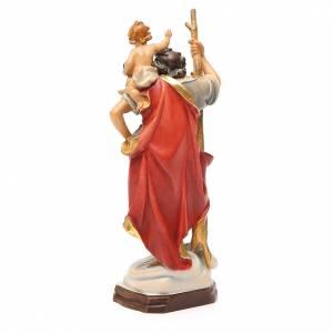 STOCK Saint Christophe 20 cm bois Valgardena finitions or s3