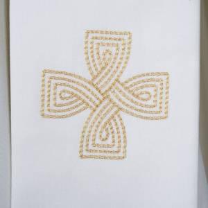 Stola mit goldenem Kreuz und Geflecht s2