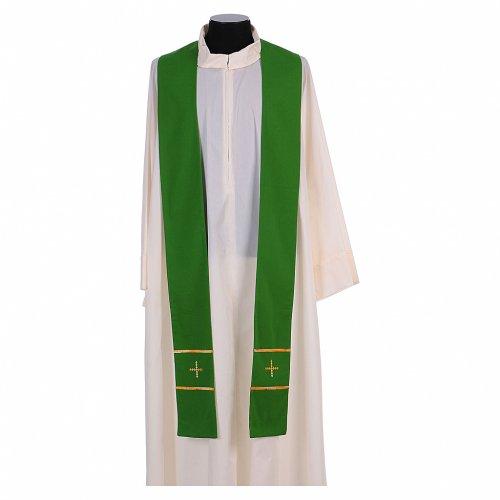 Stola ricamata a mano pura lana 4 colori - Monastero Montesole s2