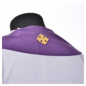 Stole, 80% polyester 20% wool with chalice grapes decoration s5