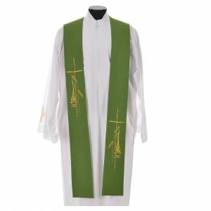 Stole in polyester with stylised cross and lamp s6