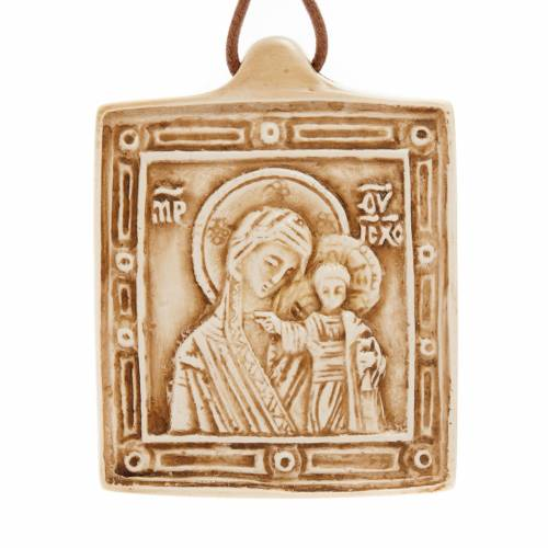 Stone pendant Our Lady and Baby Jesus, Bethlehem s1