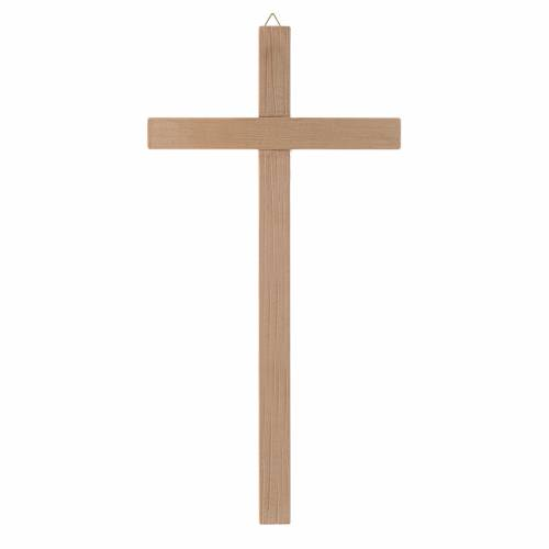 Straight cross in natural wood s1