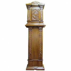 Tabernacles: Tabernacle in carved wood with column 190x57x39cm