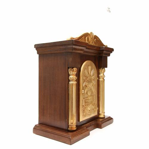 Tabernacle in carved wood with gold leaf capital 70x45x30cm s4