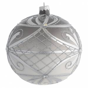 Tannenbaumkugeln: Tannenbaukugel Glas Silber Dekorationen 150mm