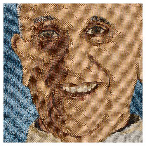 Tapestry Pope Francis 47x34cm s2
