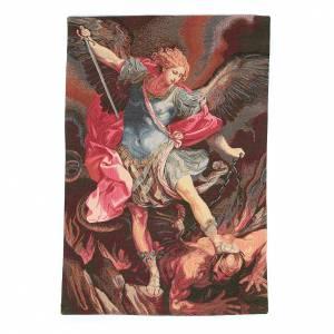 Tapisseries religieuses: Tapisserie Saint Michel Archange de Guido Reni 50x30 cm