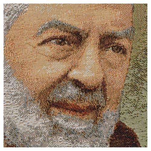 Tapiz con Padre Pío de Pietrelcina s2