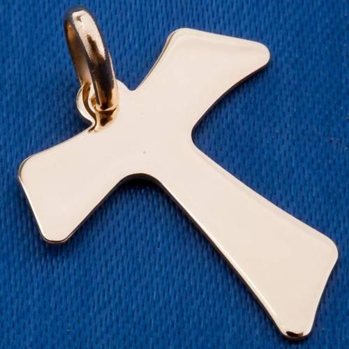 Tau cross 750/00 gold pendant - 2,00 gr s3