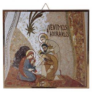 Tavola stampa Adorazione dei Magi Rupnik 10x10 cm s1