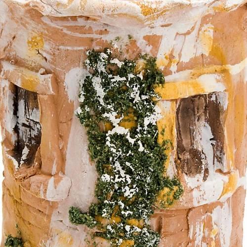 Teja terracota Natividad buey y asno s2