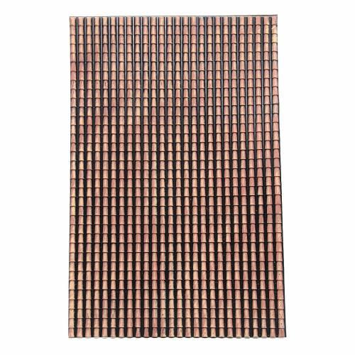 Tetto presepe pannello tegole rosse sfumate 70x50 cm s1