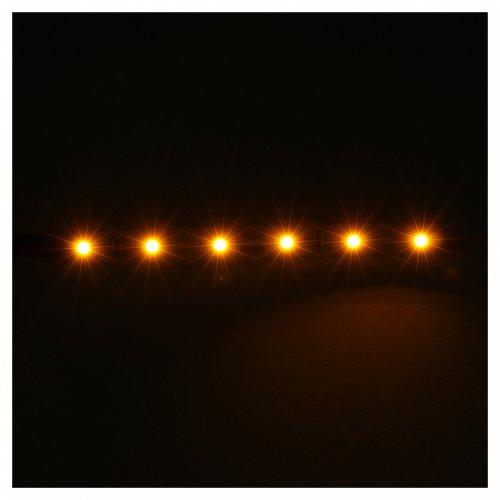 Tira de 6 LED cm. 0.8x8 cm. amarilla Frisalight s2