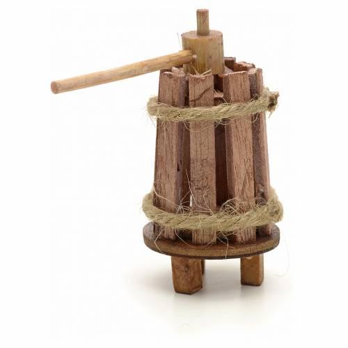 Torchio legno cm 3 presepe fai da te s2