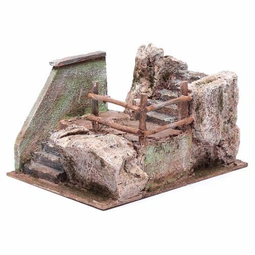 Treppe für Krippe auf Stein 15x20x25cm s2