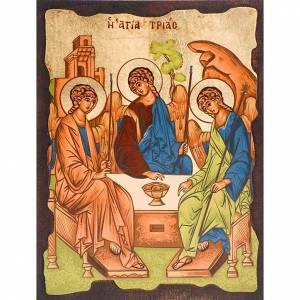 Íconos Pintados Grecia: Trinidad de Rublev