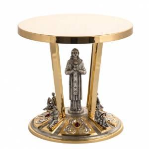 Bases pour ostensoir, trônes: Trône laiton bronze 4 Evangélistes