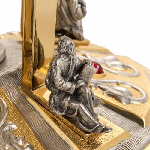 Trono latón con baser bronce 4 Evangelistas s4