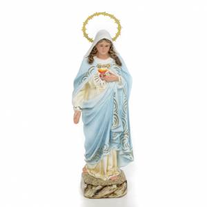 Statuen aus gemalten Holz: Unbeflecktes Herz Mariä 20cm, fein Finish