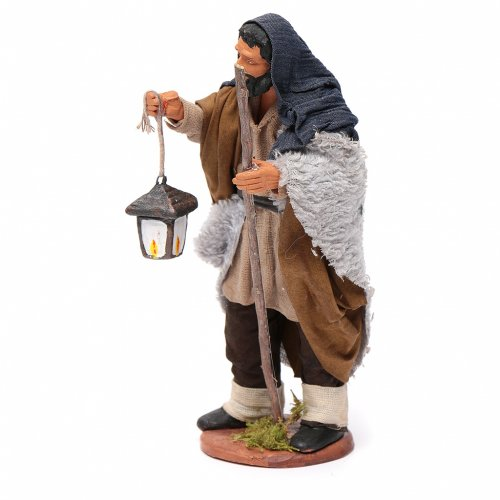 Pastore con lanterna 14 cm s2