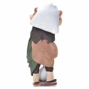 Uomo con sacchi di farina 14 cm presepe napoletano s3
