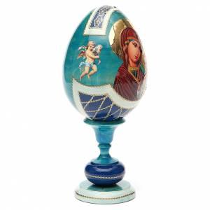 Uovo legno découpage russa Kazanskaya tot h 20 cm stile Fabergè s4