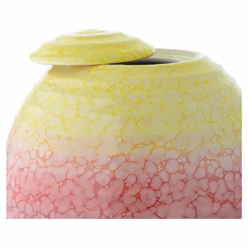 Urna cineraria porcelana esmaltada mod. Murano Colour s2