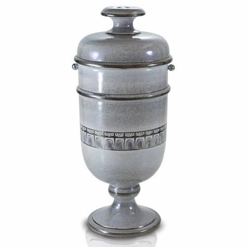 Urne funéraire céramique perle et platine s1