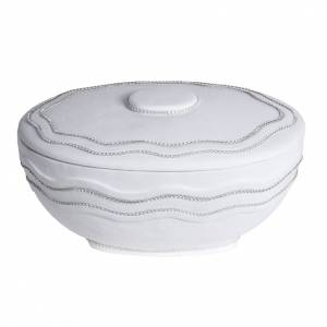 Urne funéraire ronde marbre blanc et Swarovski s1