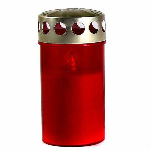 Vela led rojo silicona a pilas s1