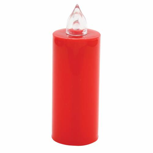 Vela votiva Lumada desechable roja luz parpadeante s1